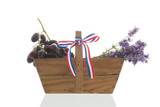 French bouquet Lavender an wine grapes - 227892938