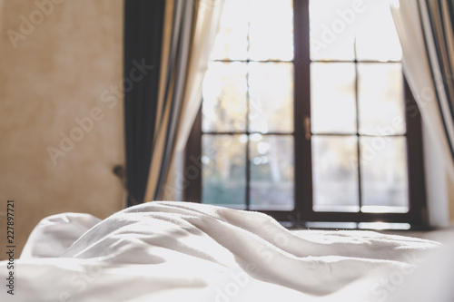 Foto Murales Autumn morning in bedroom
