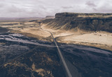Icelandic panoramas, aerial view on the lands - 227905592