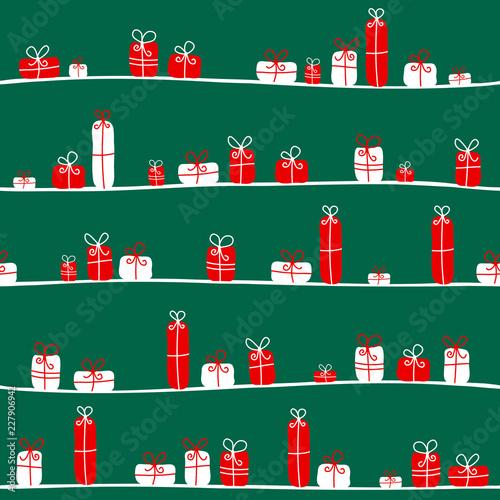 Seamless Pattern Christmas Gifts