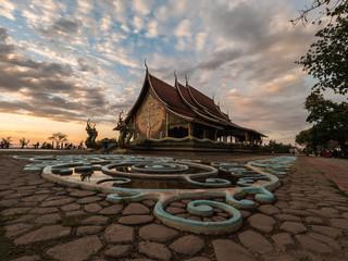 Wat Sirindhorn Wararam, landmark in Ubonratchathani, Thailand