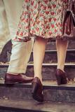 promenade amoureuse rétro