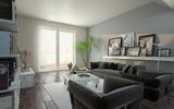modernes Wohnzimmer im Dachgeschoss - 227916301