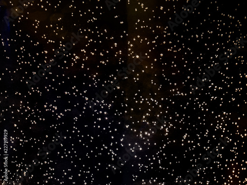 Black background – starry sky, bubbles - 227919929