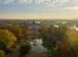 Leinwanddruck Bild - Schloss Phillipsruhe Hanau Herbst