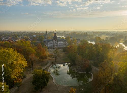 Leinwanddruck Bild Schloss Phillipsruhe Hanau Herbst