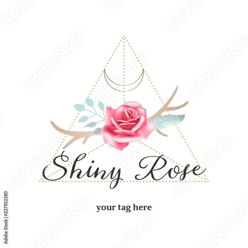 czeska-roza-i-poroze-logo-wektorowe-kobiece-logo-emblemat-vintage-boho-chic