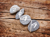 2019 written on a lign of stones on a wooden background - 227939383