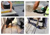 Arbeiter verlegen Pflastersteine (Collage) - 227945714