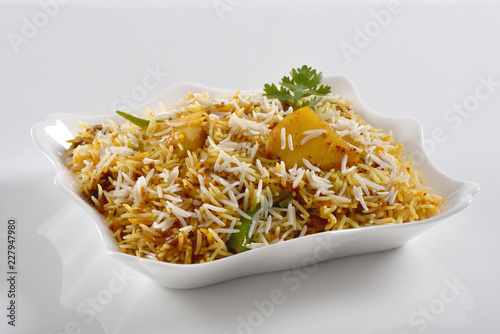 Potato Biryani or Aloo ki Biryani - 227947980