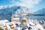 Hallstatt village in winter, Salzkammergut, Austria
