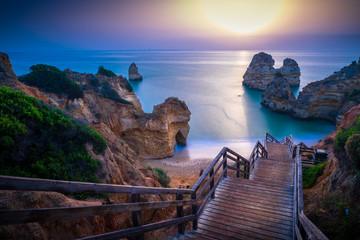 sunset on the turquoise beach © Sergio