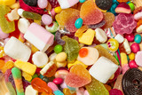 Different colorful fruit candy - 227955976
