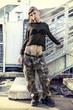 young female singer rap caucasian tattooed posing