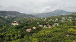 town and forest in the mountains - 227958779