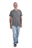 Man walking on white background - 227966380