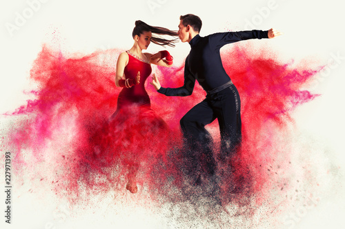 mata magnetyczna Dancing ballroom. Color dust effect