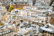 Top view on the beautiful residential buildings in Paris