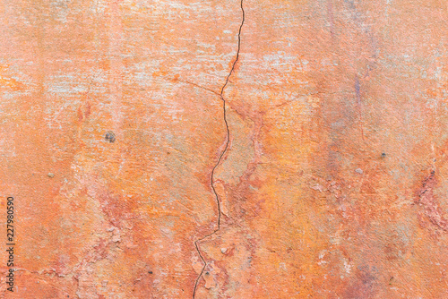 Sticker Wall fragment with scratches and cracks. It can be used as a background