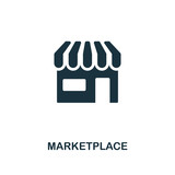 Marketplace icon. Premium style design from crowdfunding icon collection. UI and UX. Pixel perfect marketplace icon. For web design, apps, software, print usage. - 227982973