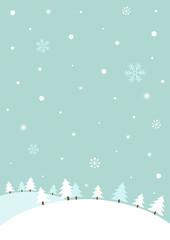 Snowy winter hills.Winter background © soyon