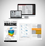 Template vector design ready for use for brochure, annual report or magazine - 228008332