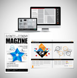 Template vector design ready for use for brochure, annual report or magazine - 228008706