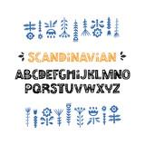 Scandinavian Font Vector - 228021994
