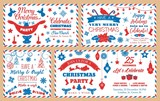 Christmas party envelopes, holiday decorations - 228036581