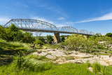 The rustic Highway 71 bridge over the Llano River in the small Texas Hill Country town of LLano.