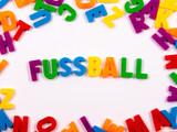 FUSSBALL in Buchstaben