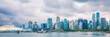 Vancouver city skyline panoramic banner landscape in Autumn - British Columbia, Canada. Urban background.