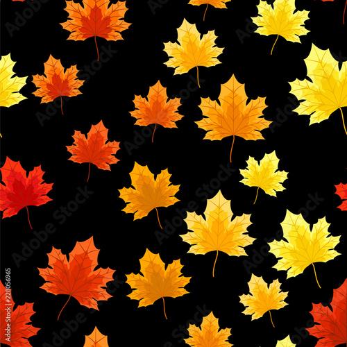 Autumn floral seamless pattern. - 228056965