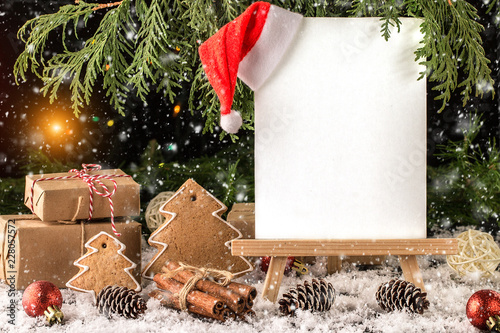 Foto Murales Christmas Composition with Gifts with free text space