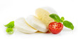 Leinwanddruck Bild - Mozzarella cheese on white background