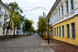 Vitebsk,Belarus- 06/10/2018: historical center of Vitebsk, SUVOROV street