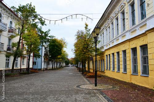 Vitebsk,Belarus- 06/10/2018: historical center of Vitebsk, SUVOROV street