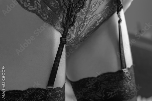 stockings with belt
