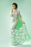 Gorgeous woman wearing beautiful dress