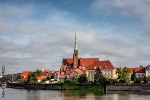 Katedra przy Odrze we Wrocławiu w Polsce