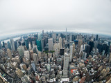 Aerial view of Manhattan skyscraper from Empire state building observation deck - 228082395