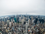 Aerial view of Manhattan skyscraper from Empire state building observation deck - 228082577