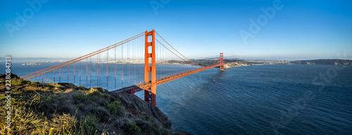 Leinwandbild Motiv Golden Gate Bridge Panorama als Hintergrund