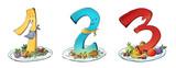 3 platos de comida - 228095589
