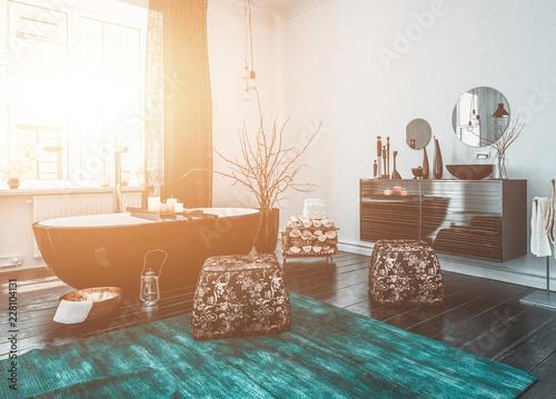Luxury Bathroom with Free Standing Bathtub