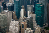 Aerial view of Manhattan skyscraper from Empire state building observation deck - 228108592