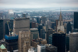 Aerial view of Manhattan skyscraper from Empire state building observation deck - 228108745