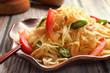 Leinwandbild Motiv Thai raw papaya salad