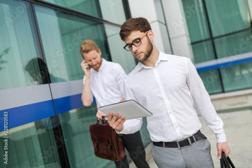 Leinwandbild Motiv Business people going to work