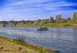 Leinwandbild Motiv Fähre beim  übersetzen auf der Elbe, Pirna - Lohmen,Elbsandsteingebirge